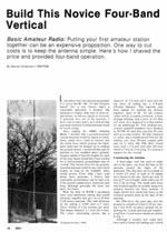 A Novice Multiband Vertical Antenna - Ham Radio Library
