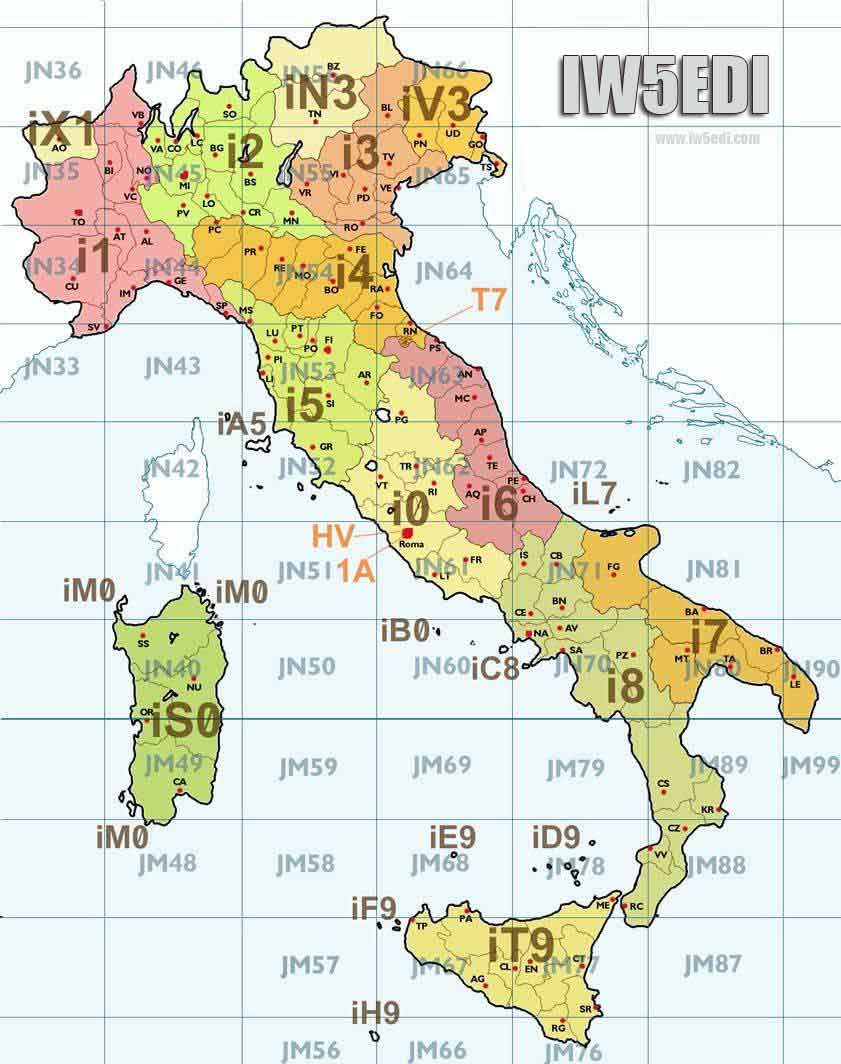 IW5EDI Simone HamRadio – Tourist Map Of Italy