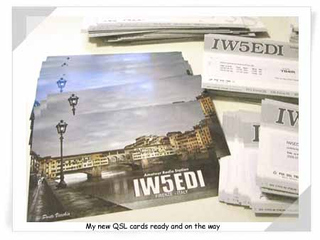 IW5EDI new QSL cards