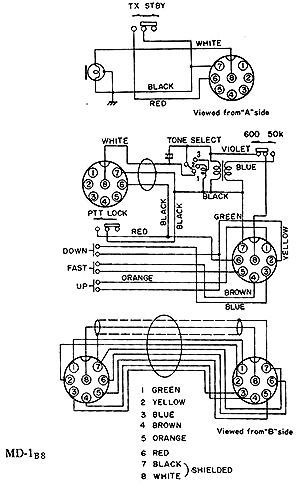 Yaesu Md 1 on microphone wiring diagrams